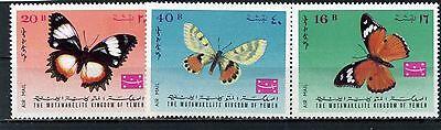 Tiere Jemen Königreich 3167.2km 448-450a Schmetterlinge Set 3 Briefmarken Mnh Gesundheit FöRdern Und Krankheiten Heilen Briefmarken