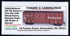 LMH Funaro F&C 3504  WABASH  WAB 40' Boxcar Automobile Autocar Wood Doors Murphy