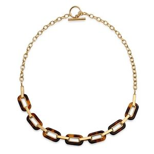 Brown-Oval-Tortoise-Necklace-Toggle-14K-Gold-Plated-Stainless-Steel
