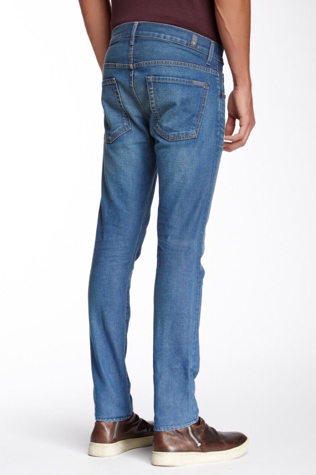 7 Seven For All Mankind Jeans Paxtyn Slim Skinny Okayama Trail bluee sz 36