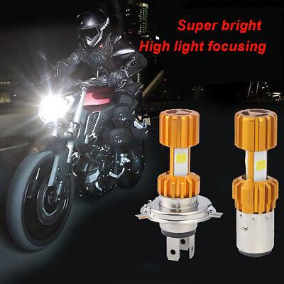 H4 18W LED White 3 COB Motorcycle Headlight Bulb 2000LM 6000K Hi//Lo Beam Light