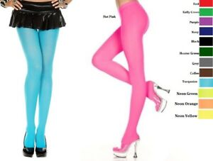 PLUS-SIZE-LINGERIE-HOSIERY-PANTYHOSE-DESIGNER-COLORS-OPAQUE-TIGHTS-Q-S-STOCKINGS