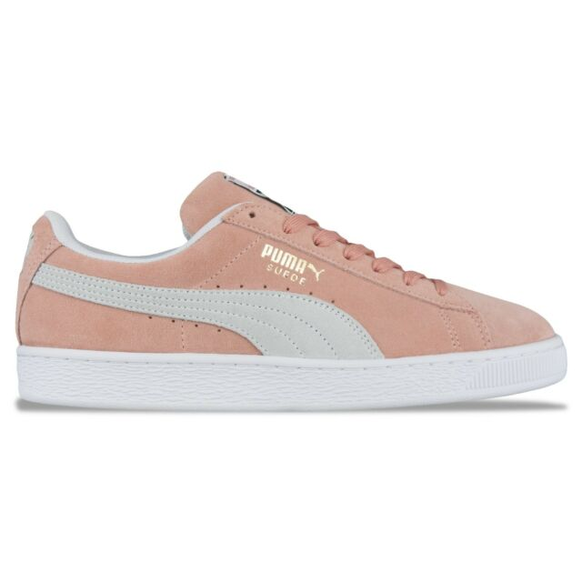 91b4085c9733 PUMA Suede Classic Trainers SNEAKERS Pink White F06 37