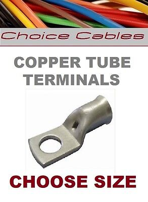 SWA Copper Tube Crimp Cable Terminals Eyelets Battery Lugs 6mm² 50mm²