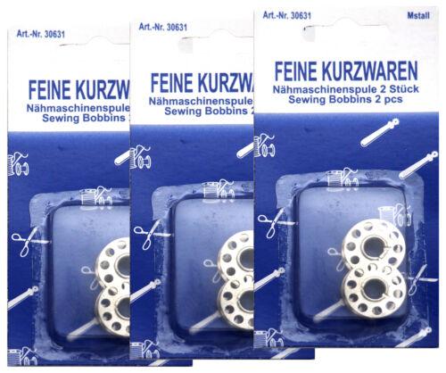 24 x Nähmaschinenspule Metall Nähzubehör Metallspule Unterfaden Nähspule