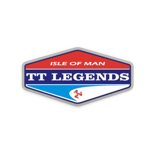Tourist Trophy Sticker plastifié TT LEGENDS Isle of Man 10,5cm x 6cm