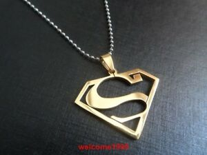 Top Selling Stainless Steel necklace superman Pendant W ...