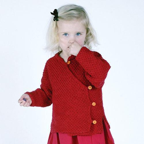 MinnowKnits Knitting Pattern 195QK China Doll Mandarin Jacket for Girls 1-6yrs