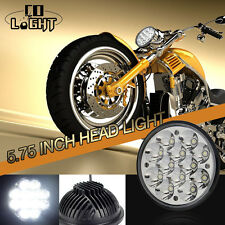 """5-3/4"""" LED HID Cree Light Bulb Crystal Clear Headlight Fits: Harley Motorcycle"""