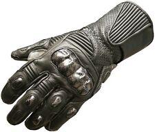 New Men's Motorcycle Gloves Carbon Fiber Leather Black Naked Cowhide Gloves S