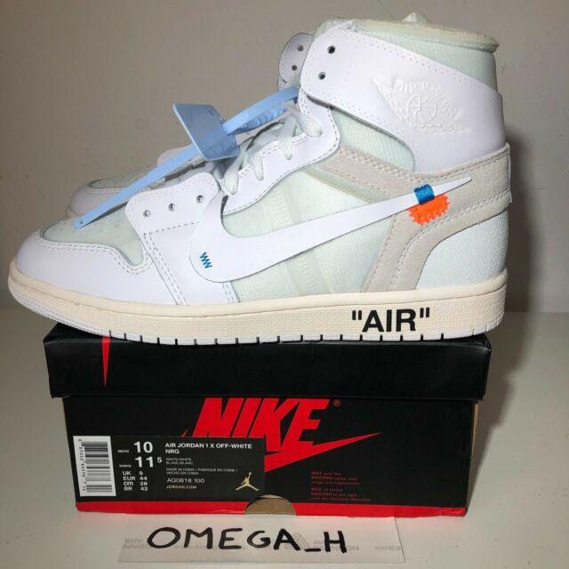 reputable site 63ac8 0b6df OFF WHITE NIKE AIR JORDAN 1 AQ0818-100 Sneakers WHITE US 10 UK 9 EU 44 NEW  DS