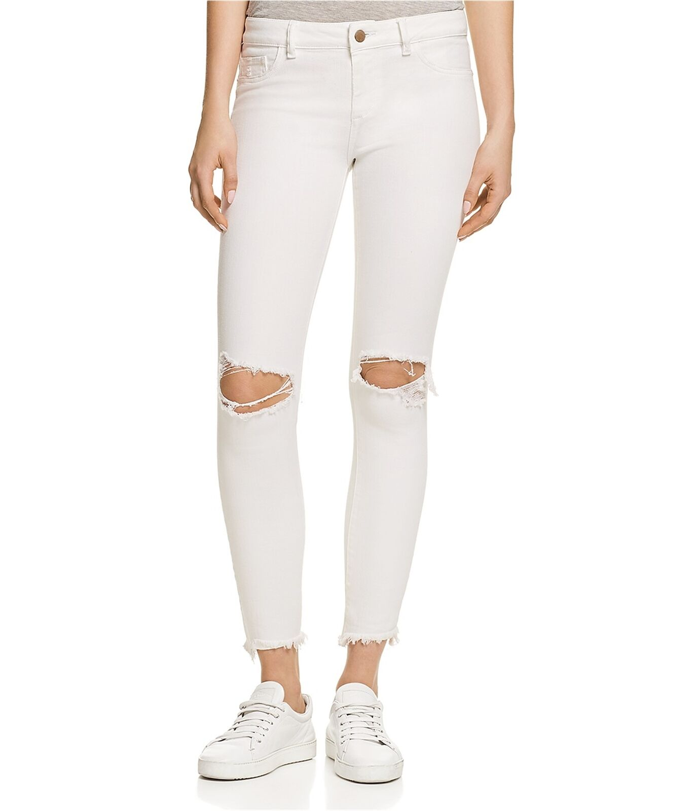 DL1961 Womens Margaux Instasculpt Ankle Skinny Fit Jeans white 29x27