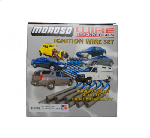 Moroso Spark Plug Wire Set 28440; Mag-Tune Race 8.0mm Red 90° HEI Male