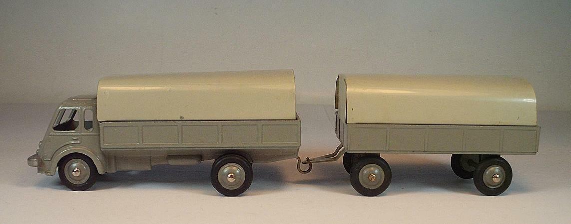 CIJ vintage Ref.  3 25 Renault Camion 7 tonnes mit Anhänger grey  6547