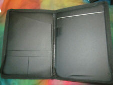 New Zippered Portfolio Professional Folder Business Notepad Holder