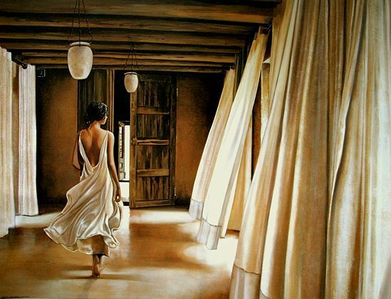 Ron di scenza  Desert Breeze romantisme terminé-image 60x80 la fresque