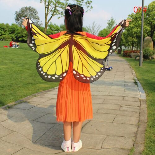 Kids Butterfly//Bat Wings Shawl Cape Stole Scarf Wrap Funny Dress Party Costume