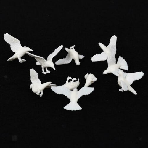 40 lot Miniature Craft Pigeon Bird Model Doll House Landscaping Sandtable