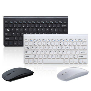slim wireless keyboard and mouse combo set 2 4g for mac apple pc full size ebay. Black Bedroom Furniture Sets. Home Design Ideas