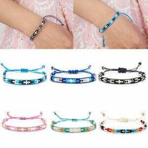 Handmade-Multicolor-String-Beads-Woven-Braided-Friendship-Bracelets-Jewelry-Gift