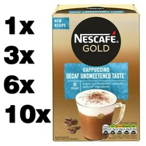 NESCAFE GOLD CAPPUCCINO DECAF UNSWEETENED instant coffee (1 to 80 sachets) cheap