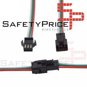 Belle 5x Pareja De Conectores Jst Sm 3 Pin Macho Hembra 150mm Baterias Lipo Nimh Sp