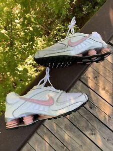 2008-Womens-Nike-Shox-Turbo-8-Black-White-Pink-Running-Shoes-Size-6y