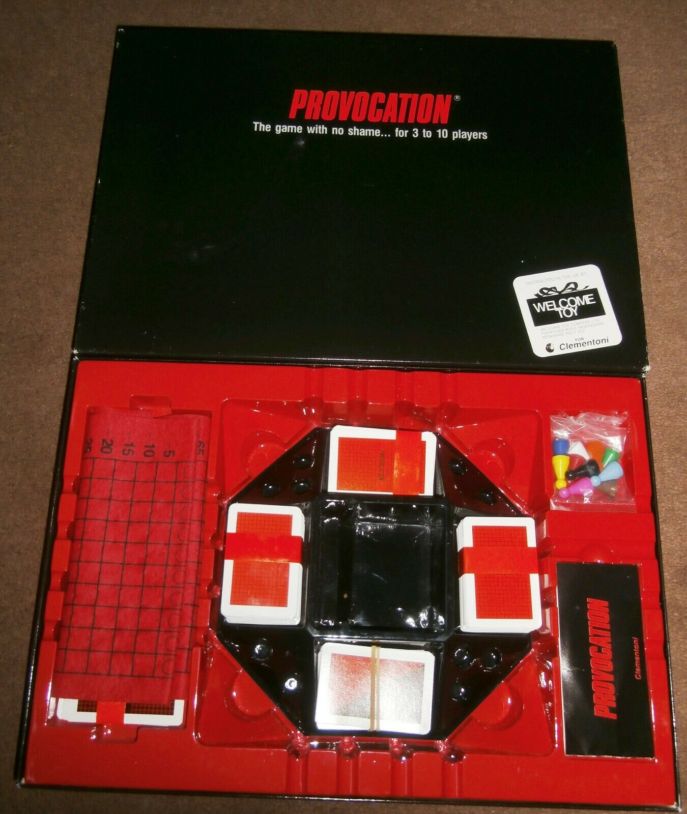 Provocation Family Board Game. Complete and in VGC.