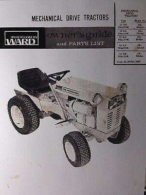 Montgomery Ward Gilson Gear Drive 12 & 15 H P  Garden Tractor Owners Manual  GIL-   eBay