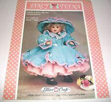 FIBRE CRAFT 1993 FANCY TEENA 16 INCH DOLL CROCHET PATTERN OOP 252