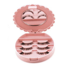Acrylic Cute Bow False Eyelash Storage Box Makeup Cosmetic Mirror Case Organizer