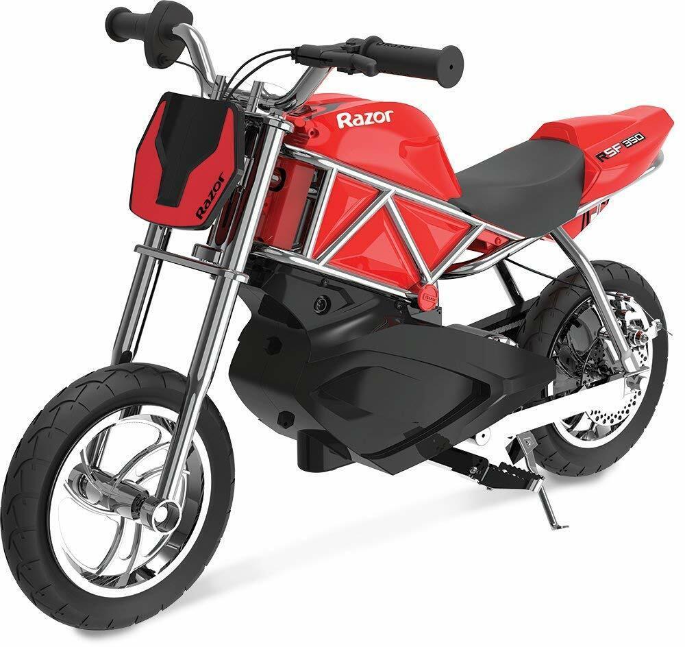 Electric Street Bike 24V Red E-Bike Fun Toy For Kids 8-13+ Age New Cool Desidn