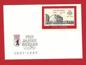 DDR - Briefmarken - 1987 - ETB - FDC - Mi. Nr. 3123 - Block 89