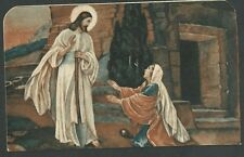 Estampa antigua resureccion de Jesus andachtsbild santino holy card santini