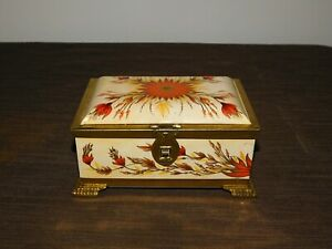 VINTAGE-KITCHEN-LINETTE-WESTERN-GERMANY-6-3-4-034-X-4-5-8-034-HIGH-FLOWERS-TIN-BOX