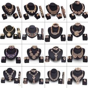 Мода женщины кристалл цепочка кулон заявление коренастый ошейник ожерелье ювелирные изделия комплект