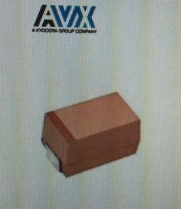 Lote-de-100-Avx-TAJE106M050RNJ-Tantalio-Condensador-Macizo-SMD-50volts-10uF-20