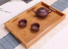 BAMBOO SERVING TRAY With Handle Tea Coffee Table Breakfast Gift Present New