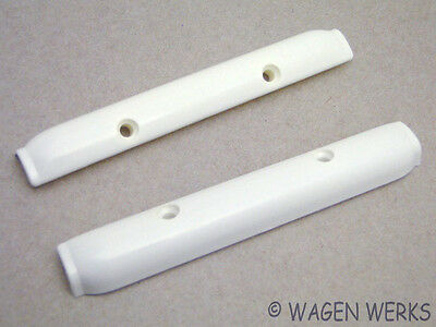 VW Bug Pop Out Window Hinge Covers - Bug to 1977 - off White