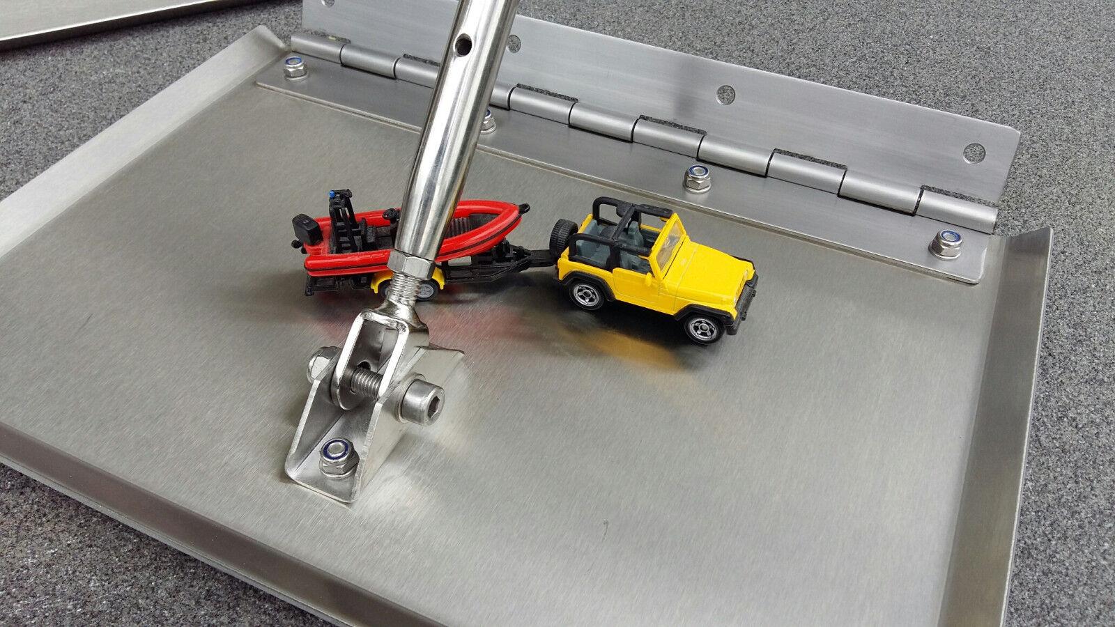 Trimmklappen Edelstahl Breite  mit Edelstahlklavierband Breite Edelstahl 375 mm 78b5cf