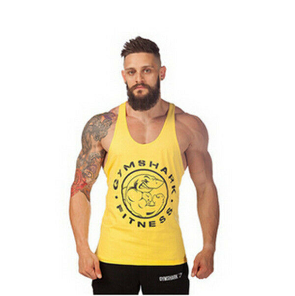New Sexy Men Gym Tank tops Stringer Tops Bodybuilding tank Muscle Undershirt