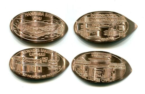 LANDMARKS OF HAWAII-SERIES V Set of 4 copper cents