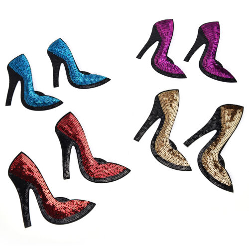 High-heeled Schuhe Sequined Iron On Patches für Kleidung Applique Embroidery ZP