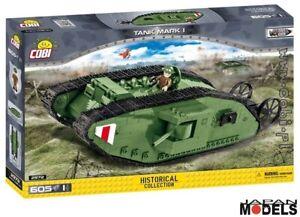 TANK-MARK-I-1-605pz-Great-War-Cobi-2972-Costruzione-Mattoncini-Blocks-Nuovo