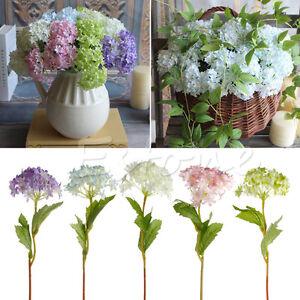 5x artificial hydrangea flowers silk bouquet bridal home wedding vase decor diy ebay Diy home decor flower vase