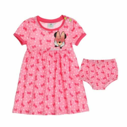 62-92 Gr rosa Disney Minnie Kleid mit Höschen