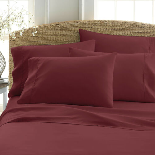 4 PIECE 2100 COUNT DEEP POCKET LUXURY SERIES BED SUPER SOFT SHEET SET MOST SIZES