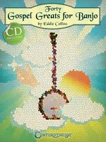 Forty Gospel Greats For Banjo Sheet Music Banjo Book And Cd 000001497