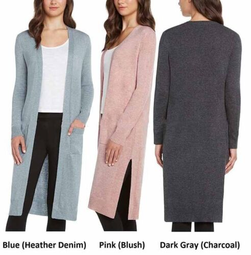 Matty M Ladies/' Women/'s Open Front Duster Knee Length Cardigan Pick Size Color