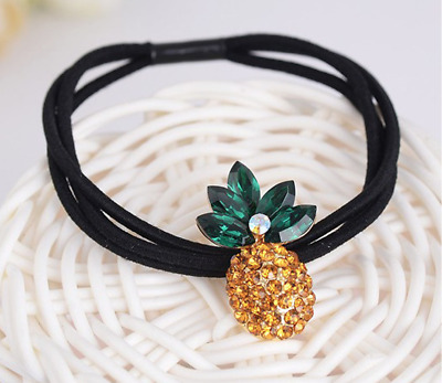 NEW Beautiful Crystal Pineapple Hair Tie//Band UK Seller